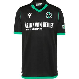 macron Hannover 96 19/20 Auswärts Fußballtrikot Herren schwarz
