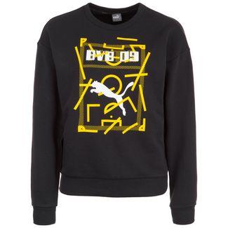 PUMA Borussia Dortmund DNA Funktionssweatshirt Damen schwarz / gelb