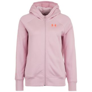 Under Armour Rival Fleece Sportstyle Trainingsjacke Damen rosa