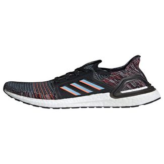 adidas Ultraboost 19 Schuh Sneaker Kinder Core Black / Glow Blue / Hi-Res Coral