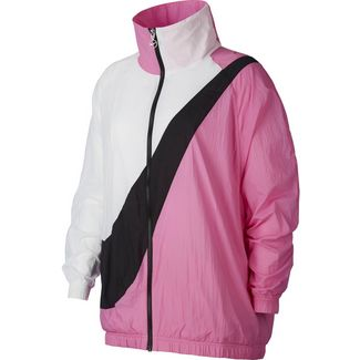 Nike NSW Nylonjacke Damen china rose-white-black