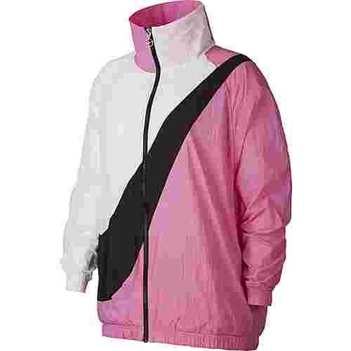 Nike NSW Nylonjacke Damen china rose-white-black