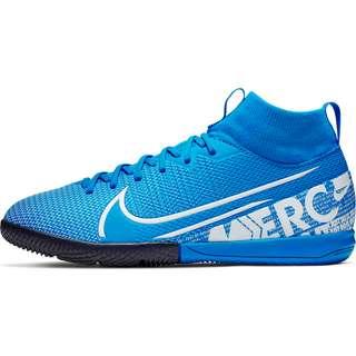 Nike JR MERCURIAL SUPERFLY 7 ACADEMY IC Fußballschuhe Kinder blue hero-white-obsidian