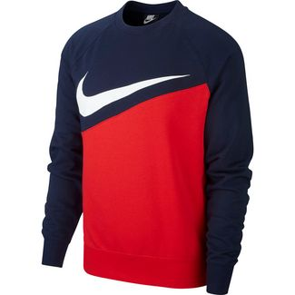 Nike NSW SWOOSH Sweatshirt Herren university red-obsidian-white