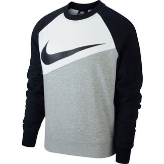Nike NSW SWOOSH Sweatshirt Herren dk grey heather-white-black-black