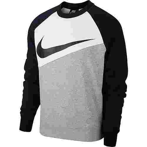 Nike NSW SWOOSH Sweatshirt Herren dk grey heather-white-black-black