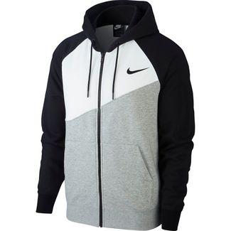 Nike NSW SWOOSH Sweatjacke Herren dk grey heather-white-black-black
