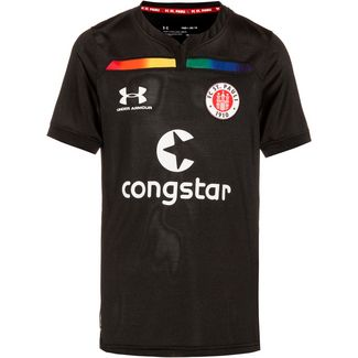 Under Armour FC St. Pauli 19/20 3rd Fußballtrikot Kinder black-white
