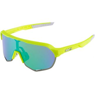 ride100percent 100% S2 Multilayer Mirror Lens Sportbrille fluorescent yellow