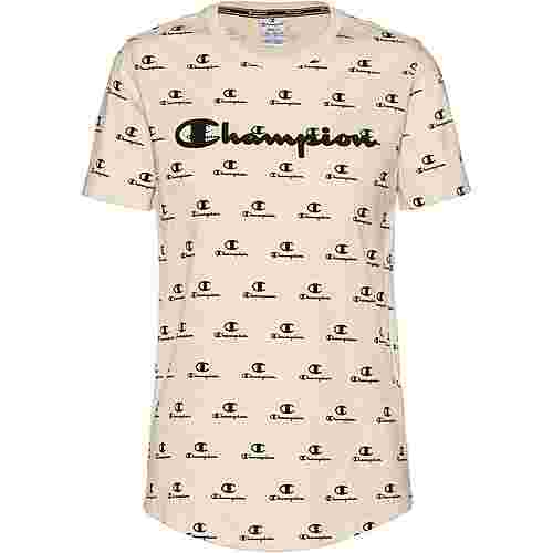 CHAMPION T-Shirt Damen white asparagus-allover