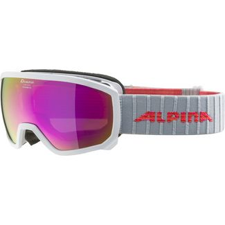 ALPINA SCARABEO JR. Skibrille Kinder white-flamingo