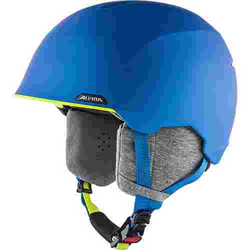 ALPINA Albona Skihelm blue-neon-yellow matt