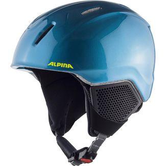 ALPINA CARAT LX Skihelm Kinder blue-neon-yellow