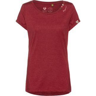 Ragwear Florah Organic T-Shirt Damen wine red