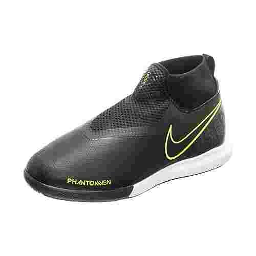 Nike Phantom Vision Academy DF Fußballschuhe Kinder schwarz / neongelb