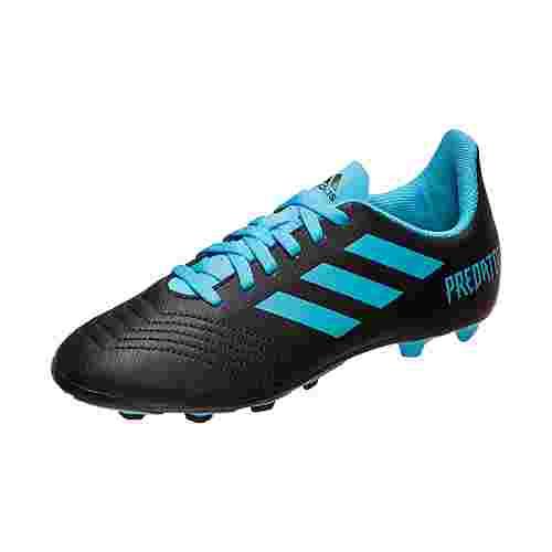 adidas Predator 19.4 Fußballschuhe Kinder schwarz / blau