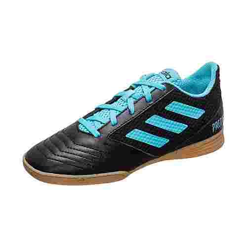 adidas Predator 19.4 Fußballschuhe Kinder schwarz / hellblau