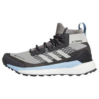 adidas Terrex Free Hiker GORE-TEX Wanderschuh Wanderschuhe Damen Ch Solid Grey / Grey Two / Glow Blue