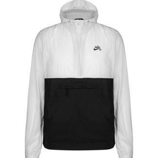 Nike Anorak Outdoorjacke Herren hellgrau / schwarz