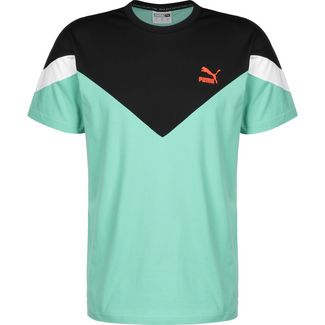 PUMA MCS Slim T-Shirt Herren türkis / schwarz