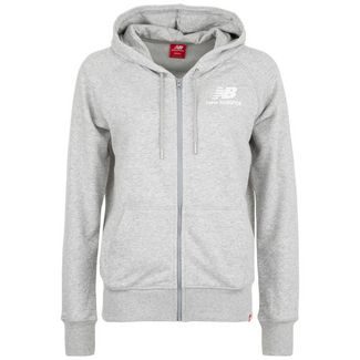 NEW BALANCE Essentials Sweatjacke Damen hellgrau