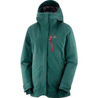 Salomon Qst Snow Skijacke Damen green gables