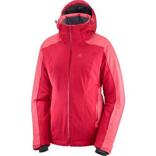 Salomon Brilliant Skijacke Damen rio red-garnet rose