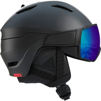 Salomon Driver Photo CD Skihelm black-aw red