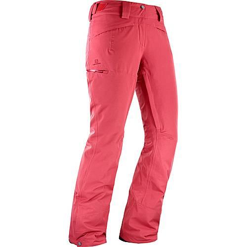Salomon Qst Snow Skihose Damen garnet rose im Online Shop von SportScheck kaufen