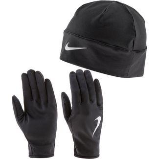 Nike Laufhandschuhe black-black-silver