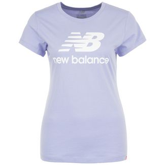 NEW BALANCE Essentials Stacked Logo T-Shirt Damen flieder