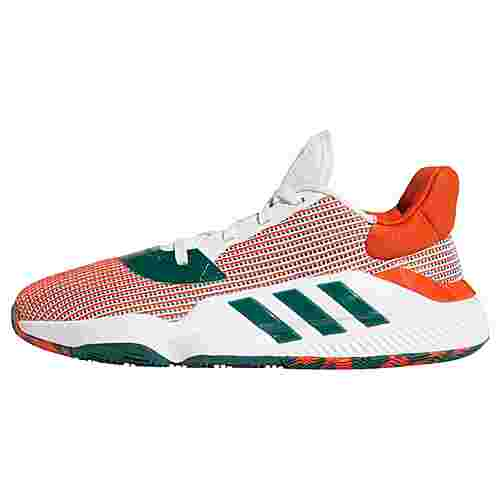 adidas Pro Bounce 2019 Low Schuh Basketballschuhe Herren Cloud White / Grey Two / Team Orange