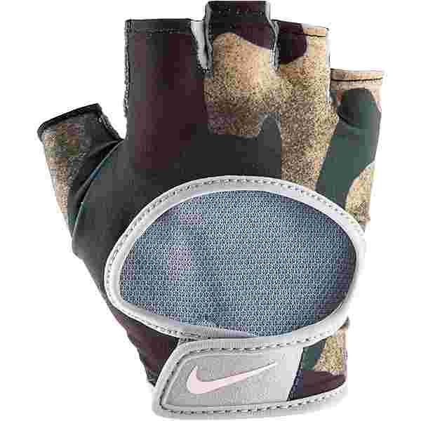 Nike Ultimate Fitnesshandschuhe Damen club gold-wolf grey-pink foam