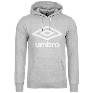 UMBRO Large Logo Hoodie Herren grau / weiß
