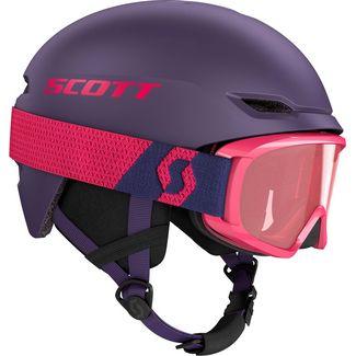 SCOTT Combo Keeper 2 + Goggle Jr Witty Skihelm Kinder deep violet