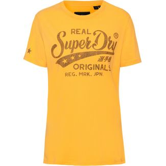 Superdry T-Shirt Damen sporty ochre
