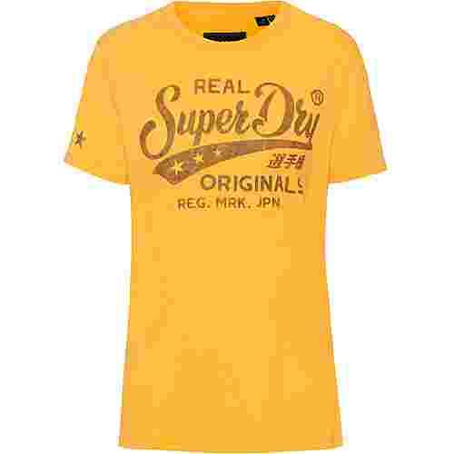 Superdry T-Shirt Damen sporty ochre