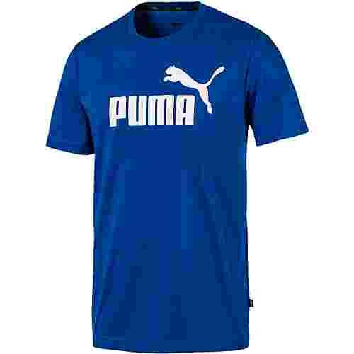 PUMA ESS Logo Tee T-Shirt Herren galaxy blue