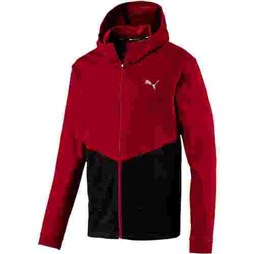PUMA Reactive FZ Jacket Sweatjacke Herren rhubarb-puma black