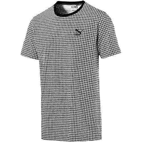 PUMA Trend T-Shirt Herren cotton black-houndstooth aop