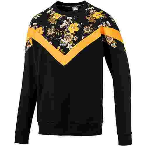 PUMA Trend Sweatshirt Herren cotton black-floral