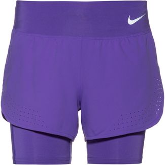 Nike Eclipse Laufshorts Damen psychic purple-reflective silver