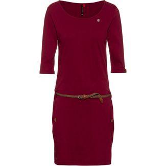 Ragwear Tanya Solid Jerseykleid Damen wine red