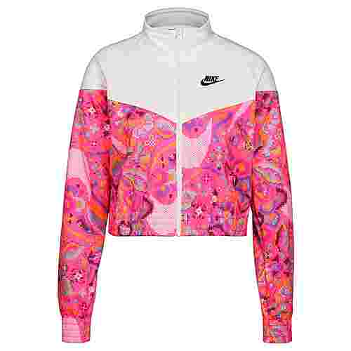 Nike Printed Sweatjacke Damen pink / weiß