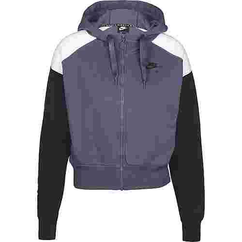 Nike Air Sweatjacke Damen lila / schwarz
