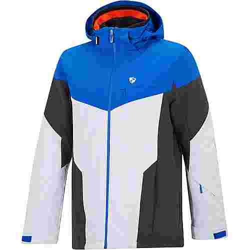 Ziener Toccoa Skijacke Herren white structure-true blue