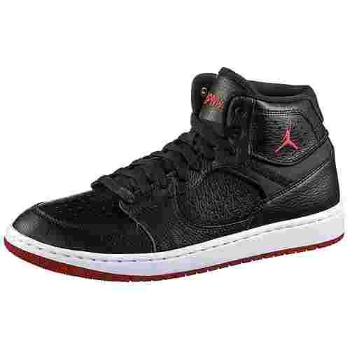Nike Jordan Access Basketballschuhe Herren black-gym red-white
