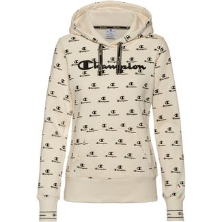 CHAMPION Hoodie Damen white asparagus-allover