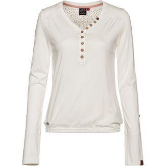 Ragwear Pinch Solid Langarmshirt Damen white