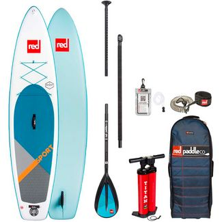 "Red Paddle SPORT SET 11'0"" x 30"" x 4,7"" SUP Board weiß-blau"